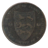 Jersey 1888 1/24 Shilling Extra Fine (EF-40)
