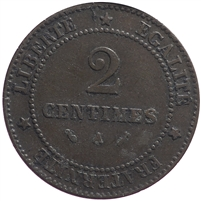 France 1886A 2 Centimes Extra Fine (EF-40)