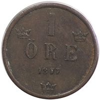 Sweden 1877 Ore Very Fine (VF-20)