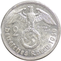 Germany 1939G 2 Mark Uncirculated (MS-60)