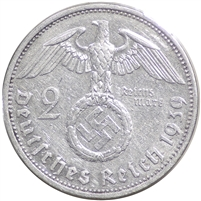 Germany 1939A 2 Mark Uncirculated (MS-60)