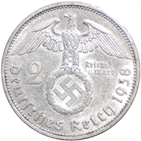 Germany 1938J 2 Mark Uncirculated (MS-60)