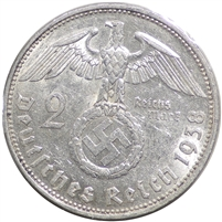 Germany 1938E 2 Mark Uncirculated (MS-60)
