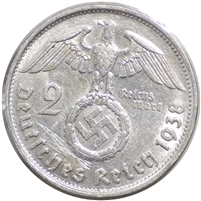 Germany 1938B 2 Mark Uncirculated (MS-60)