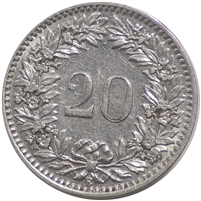 Switzerland 1924B 20 Rappen EF-AU (EF-45)