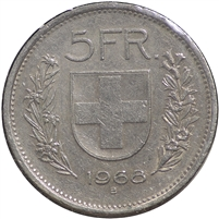 Switzerland 1968B 5 Francs Uncirculated (MS-60)