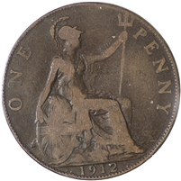 Great Britain 1912H Penny F-VF (F-15)