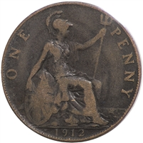 Great Britain 1912H Penny Very Fine (VF-20)