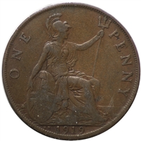 Great Britain 1919KM Penny Very Fine (VF-20) $