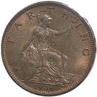 Great Britain 1936 Farthing Uncirculated (MS-60)