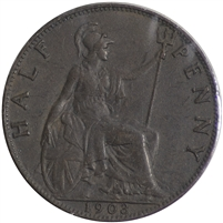 Great Britain 1903 Half Penny Extra Fine (EF-40)