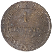 France 1879A Centime Almost Uncirculated (AU-50)