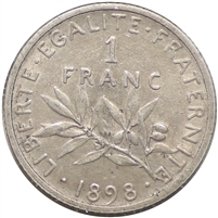 France 1898 France Almost Uncirculated (AU-50)