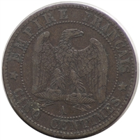 France 1853A 5 Centimes Extra Fine (EF-40)