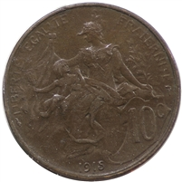 France 1915 10 Centimes Uncirculated (MS-60)