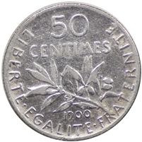 France 1900 50 Centimes Extra Fine (EF-40)