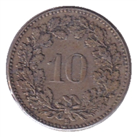 Switzerland 1915B 10 Rappen EF