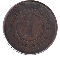 Straits Settlements 1894 Cent VF