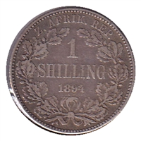 South Africa 1894 Shilling VF