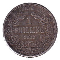 South Africa 1896 Shilling Extra Fine