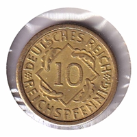 Germany 1925A 10 Pfennig Uncirculated (MS-60)