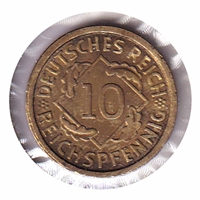 Germany 1926A 10 Pfennig Uncirculated (MS-60)