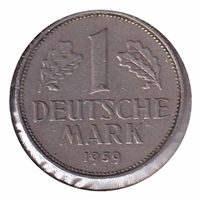 Germany 1959D Mark VF-EF (EF-30)