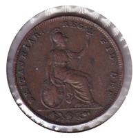 Great Britain 1845 Farthing F-VF (F-15)