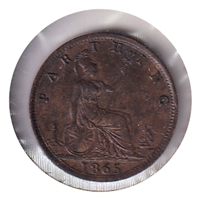 Great Britain 1865 Farthing UNC+ (MS-62)