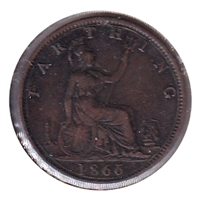 Great Britain 1866 Farthing VF-EF (VF-30)