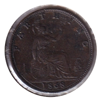 Great Britain 1868 Farthing VF-EF (VF-30)
