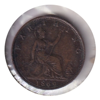 Great Britain 1869 Farthing Very Fine (VF-20)