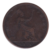 Great Britain 1870 Penny Fine (F-12)