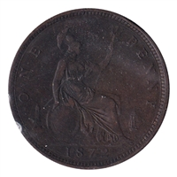 Great Britain 1872 Penny Very Fine (VF-20)