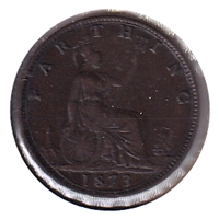 Great Britain 1873 Farthing VF-EF (VF-30)