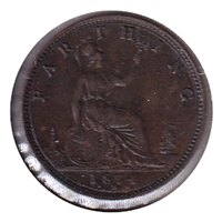Great Britain 1874H Farthing EF-AU (EF-45)