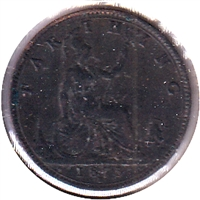 Great Britain 1875H Farthing VF-EF (VF-30)