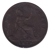 Great Britain 1879 Penny F-VF (F-15)