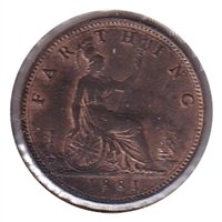 Great Britain 1881 3 Berries Farthing UNC+ (MS-62)