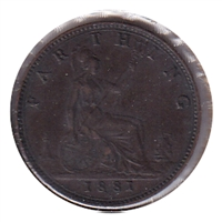 Great Britain 1881H Farthing VF-EF (VF-30)