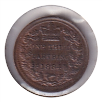 Great Britain 1884 1/3 Farthing UNC (MS-60)