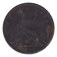 Great Britain 1890 Penny F-VF (F-15)