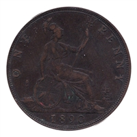 Great Britain 1890 Penny VF-EF (VF-30)