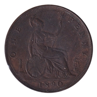 Great Britain 1890 Penny Extra Fine (EF-40)