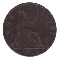 Great Britain 1893 Penny Very Fine (VF-20)