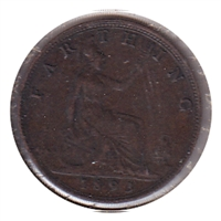 Great Britain 1893 Farthing Very Fine (VF-20)