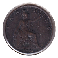 Great Britain 1901 Farthing EF-AU (EF-45)