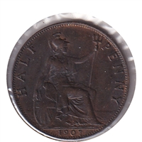 Great Britain 1907 1/2 Penny Extra Fine (EF-40)