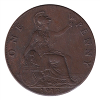 Great Britain 1912 Penny VF-EF (VF-30)