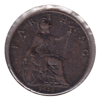 Great Britain 1915 Farthing EF-AU (EF-45)